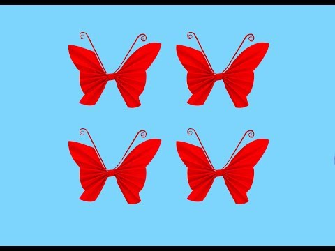Paper crafts : How to fold a butterfly out of paper | Easy paper tutorial | Nira paper crafts |