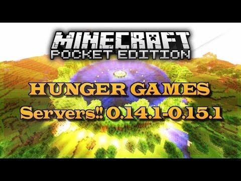 HUNGER GAMES SERVERS!! MINECRAFT POCKET EDITION !!