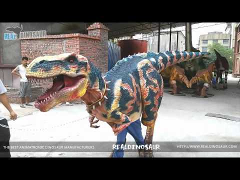 Animatronic suit dorothy the dinosaur mascot costume