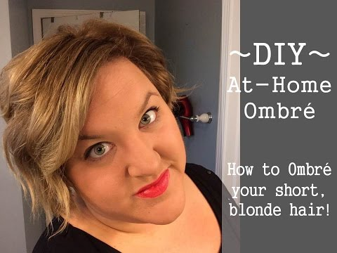DIY At-Home Ombre on Short Blonde Hair | GirlwithMoxieBlog