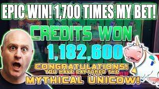 ✦ Epic Bonus! ✦ 1,700 X Win! 🎰700   Free Games ➡️mythical Unicow Captured   The Big Jackpot