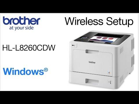 Setup on wireless network - HLL8260CDW - Windows® Version