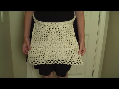 How to crochet a basic Apron