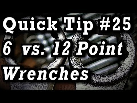 Quick Tip #25 / Tool Video ::: 6 vs. 12 Point Wrenches & Craftsman Locking Adjustable Wrench