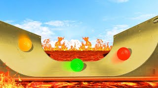 GOLF ON WORLDS MOST DANGEROUS HALFPIPE! (Golf It)