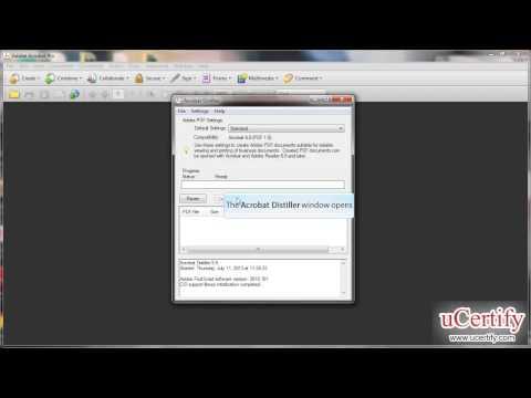 adobe acrobat 9 professional how to create pdf using adobe distiller demo