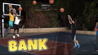 2HYPE MINI HOOP 3-POINT BANK CHALLENGE! LOSER PAYS RENT!