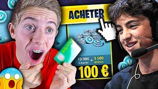 J'ACHÈTE PLUS DE 100€ DE V-BUCKS À INOXTAG SUR FORTNITE BATTLE ROYALE !!!