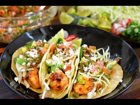 Grilled Chipotle Shrimp Tacos Recipe |Vegetarian Option Included |Cooking With Carolyn