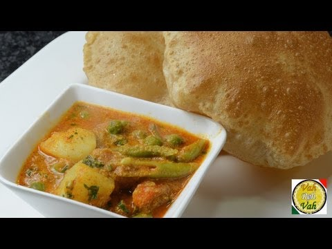 Mix Vegetable Korma with Onion Tomato Gravy - By Vahchef @ vahrehvah.com