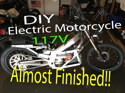 DIY Electric Motorcycle with 117V - ALMOST DONE!!
