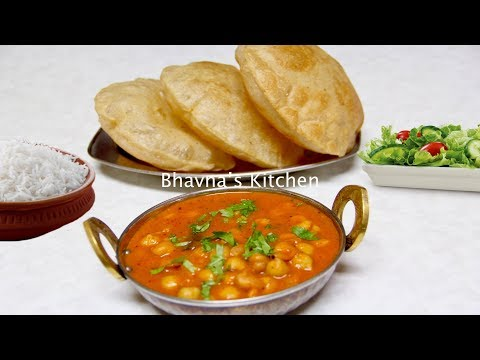 Express Meal - Chole Bhature Video Recipe | Chickpea Curry with Fried Bread Bhavna's Kitchen