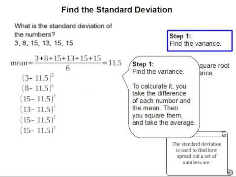 How to Find the Standard Deviation