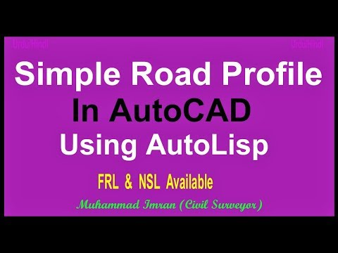 Download How to Make Road Profile in AutoCAD using AutoLisp