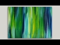Acrylic Painting Blended Streaks Abstract Painting