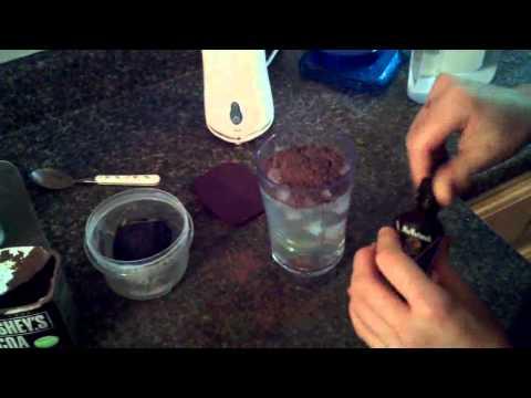 Low carb, low calorie chocolate milkshake with GELATIN- Raspberry & Coconut