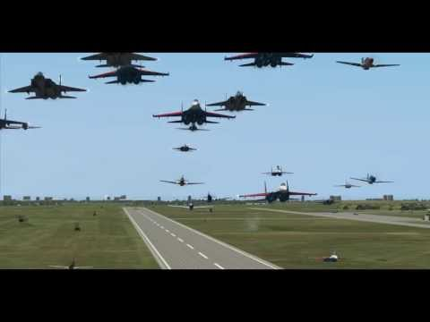 Mass Formation Memorial Flight for Jim Mackonochie