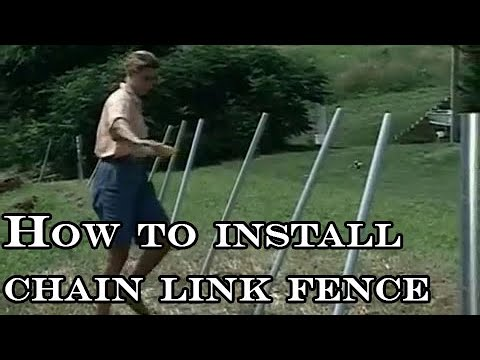 How to install chain link fence