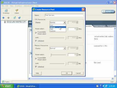 01-01-06 ESX Server Resource Pools (Standalone Host)