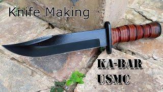 Fabricación de cuchillo de combate Ka-Bar USMC