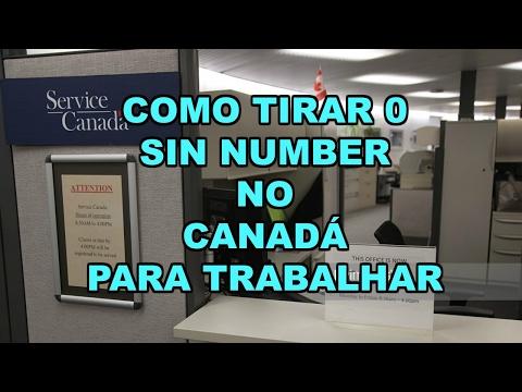 Como tirar o SIN NUMBER no Canadá