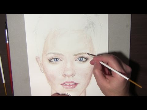 Watercolor portrait tutorial. How to, Steps and Tips. Emma Watson