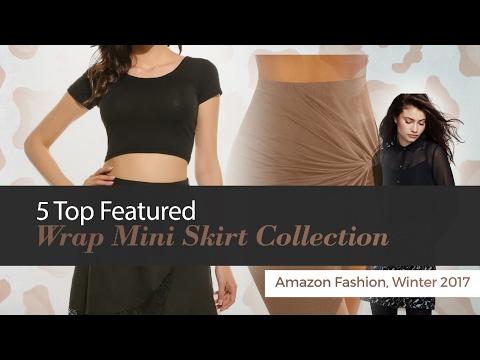 5 Top Featured Wrap Mini Skirt Collection Amazon Fashion, Winter 2017