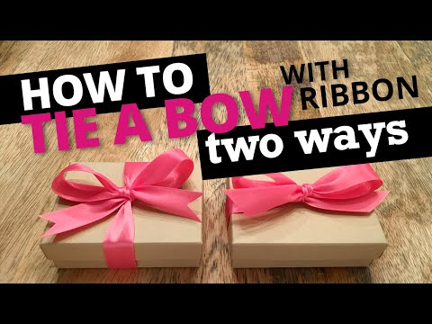 How to Tie a Bow with Ribbon - 2 Ways  | Nashville Wraps