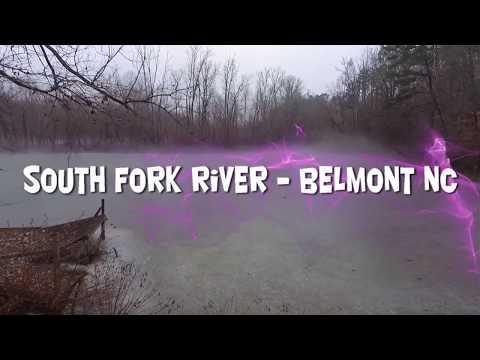 South Fork River - Belmont NC (DJI Phantom 3 Drone) Frozen & Fog