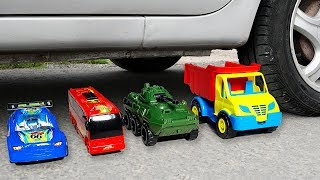 Crushing Crunchy & Soft Things by Car! - EXPERIMENT: CARS AND TOYS VS CAR