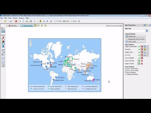 Add Markers to HTML5 Map Using iMapBuilder HTML5 Mapping Software