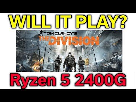 Will it Play? - The Division - Ryzen 5 2400G - VEGA 11 - Benchmark