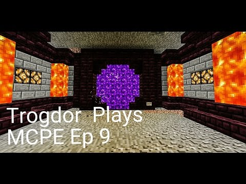 Let's Play Minecraft Pocket Edition: Ep 9 Nether Portal Room