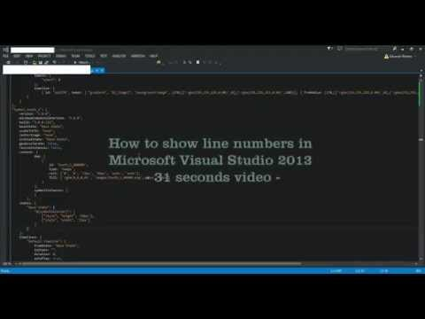 How to show line numbers in Microsoft Visual Studio 2013  30 seconds video