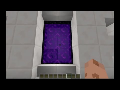 Minecraft Tutorial - One Button Automatic Nether Portal