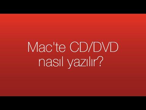 Mac'te CD/DVD nasıl yazılır?