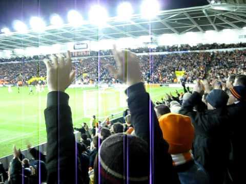 DJ Campbell winning goal for Blackpool vs Liverpool, 12th January 2011, plus crowd celebrations