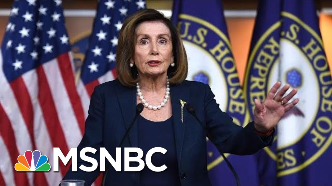 Nancy Pelosi: Parnas Interview Shows Barr Was 'Implicated' In Effort To Withhold Ukraine Aid | MSNBC