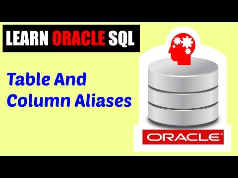 Learn Oracle SQL : Table and Column Aliases