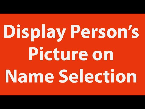 Display Person's  Picture on Name Selection using Excel VBA