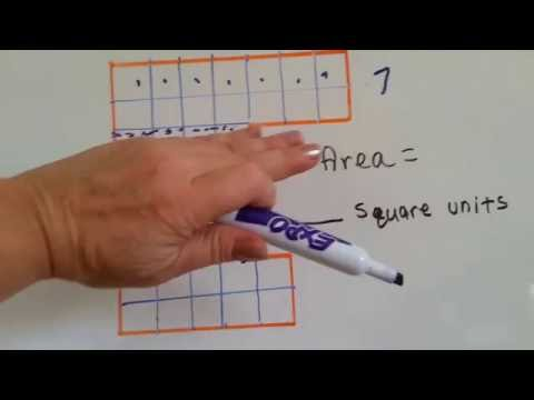 Grade 3 Math #11.2, Square Units and Area