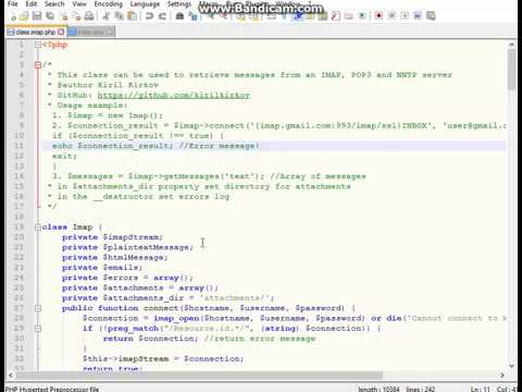 Read Mailbox With File Attachments Using PHP Imap Class