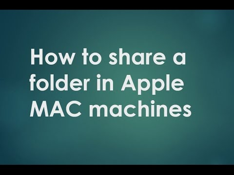 How to share a folder in Apple MAC