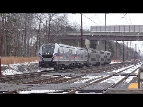 MARC HD 60fps: Chasing Siemens Charger SC-44 Test Train Along The Northeast Corridor (1/17/18)