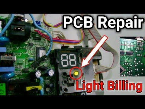 Ac on display light billing problem,PCB kit repair in Urdu/Hindi