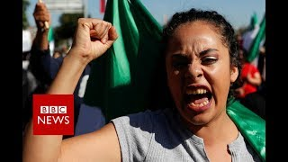 Migrant caravan: Angry protests in Mexico