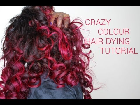 Crazy Colour Hair Dying Tutorial