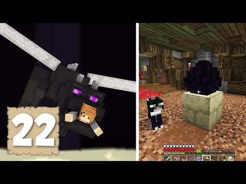FIGHTING THE ENDER DRAGON!! 😱 - Survival Let's Play Ep. 22 - Minecraft 1.2.3