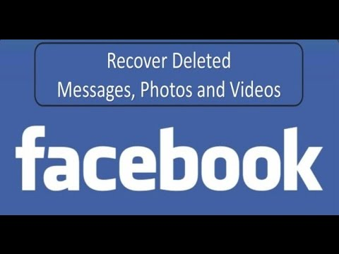How to Recover Deleted Messages Photos & Videos on Facebook II Retrieve Deleted Content on Facebook
