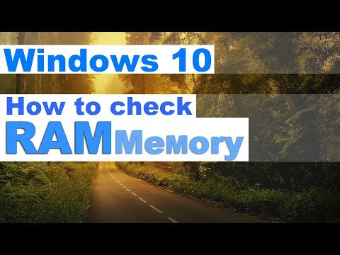 Windows 10 - How to check RAM Memory on PC and Laptop Specs, Configuration